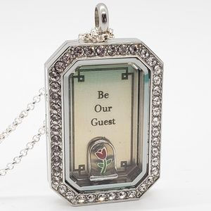 """Origami Owl """"Beauty and the Beast"""" themed locket"""